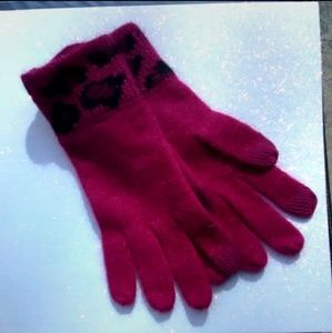 COACH Ocelot Touch Glove Cranberry